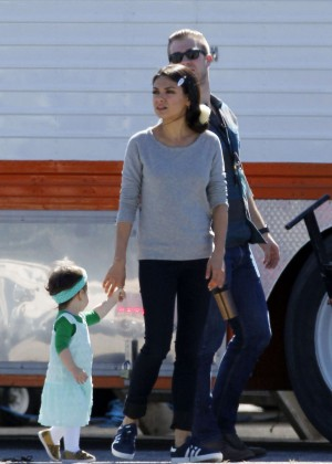 Mila Kunis on the set of 'Bad Mom's' in New Orleans