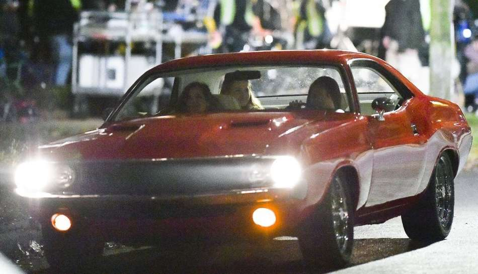 Mila Kunis on the set of 'Bad Moms' in New Orleans