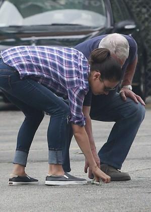 Mila Kunis in Jeans Out in LA