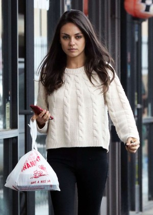 Mila Kunis out for Lunch in Los Angeles