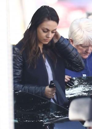 Mila Kunis in Leggings out in Hollywood