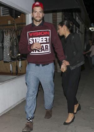 Mila Kunis and Ashton Kutcher in Venice Beach