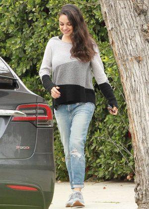 Mila Kunis - Out Running Errands in Studio City