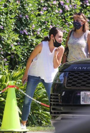 Mila Kunis - Pick up her kids after swim class in Los Angeles