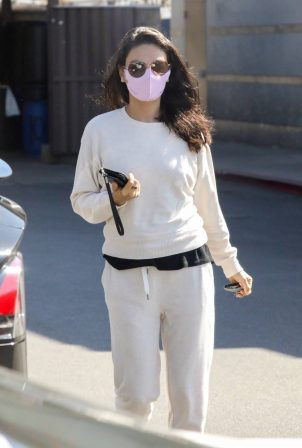 Mila Kunis - Seen after her skin care clinic visit in West Hollywood