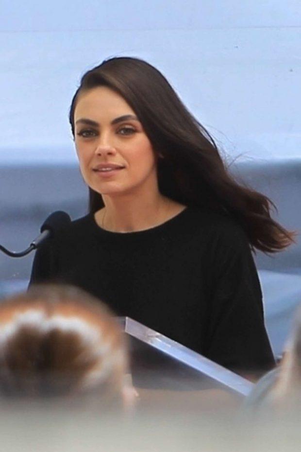 Mila Kunis - Seth MacFarlane's Walk of Fame Event in Hollywood