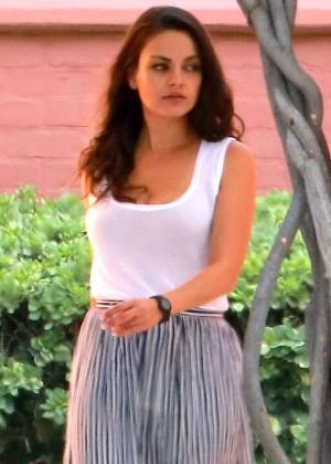 Mila Kunis visits Disney Studios in LA