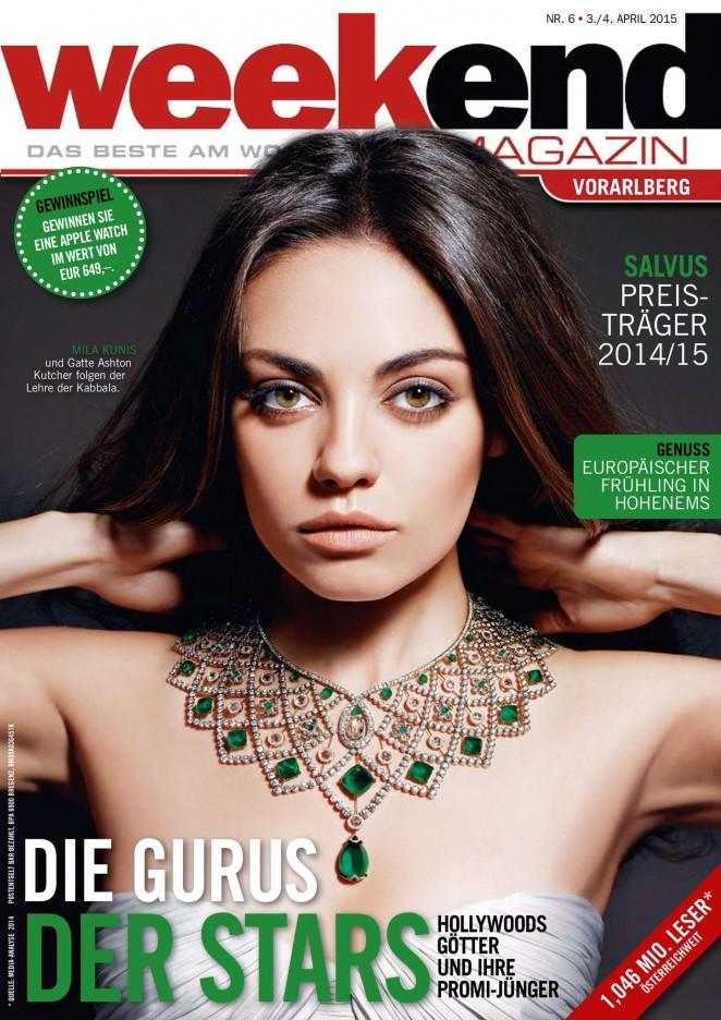 Mila Kunis – Weekend Magazin Cover (April 2015)