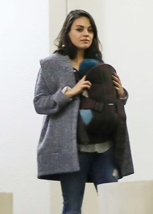 Mila Kunis With her family out in Century City