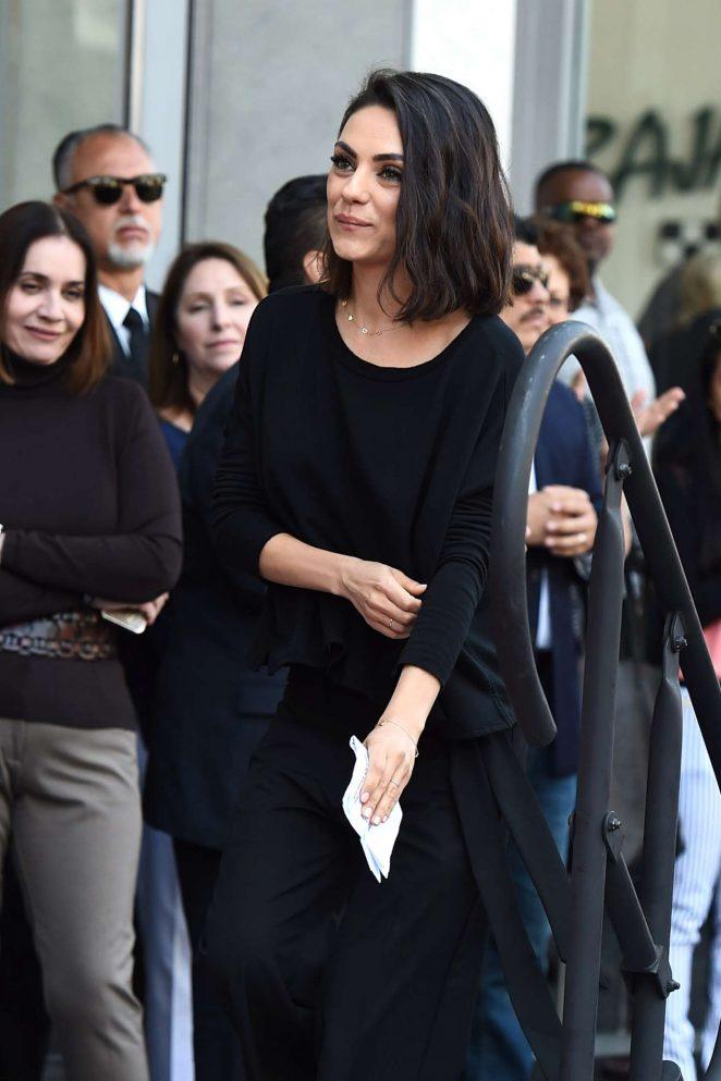 Mila Kunis – Zoe Saldana Star on the Hollywood Walk of Fame in Los Angeles