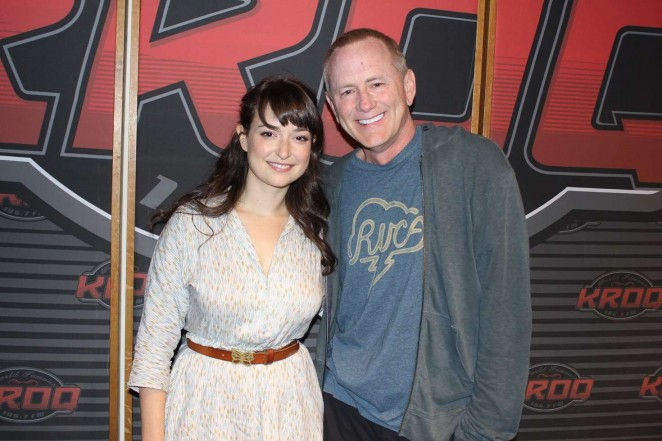Milana Vayntrub at The Kevin and Bean Show in LA