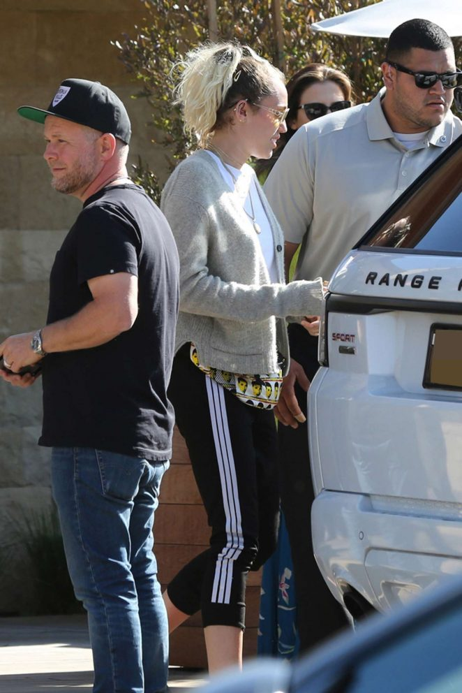 Miley and Noah Cyrus at Soho Beach House