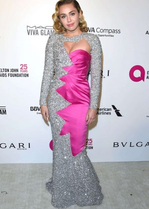 Miley Cyrus - 2018 Elton John AIDS Foundation's Oscar Viewing Party in West Hollywood