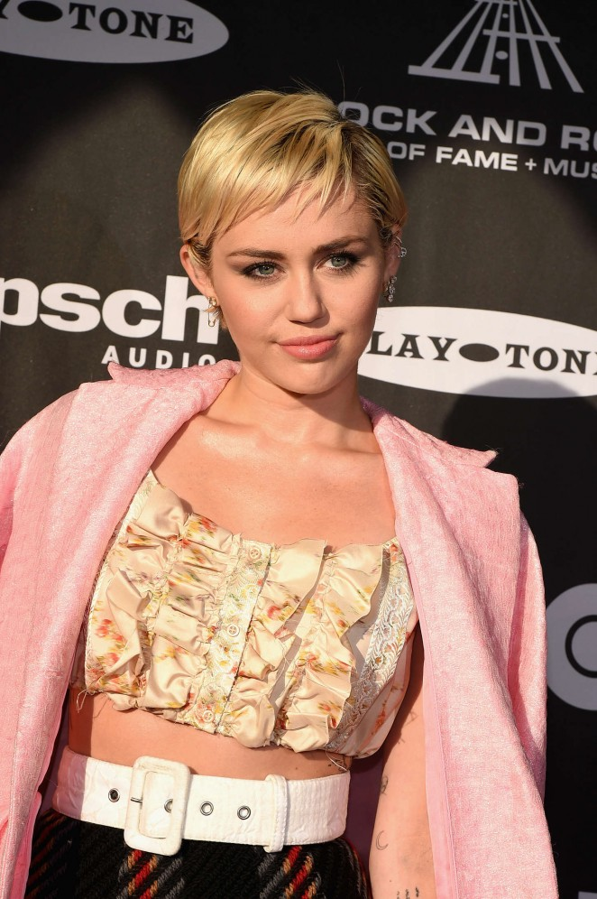 Miley Cyrus - 2015 Rock And Roll Hall Of Fame Induction Ceremony in Cleveland