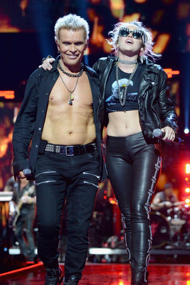 Miley Cyrus and Billy Idol Performs at 2016 iHeartRadio Music Festival Day 1 in Las Vegas