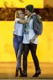 Miley Cyrus and Cody Simpson - Nightout in Studio City