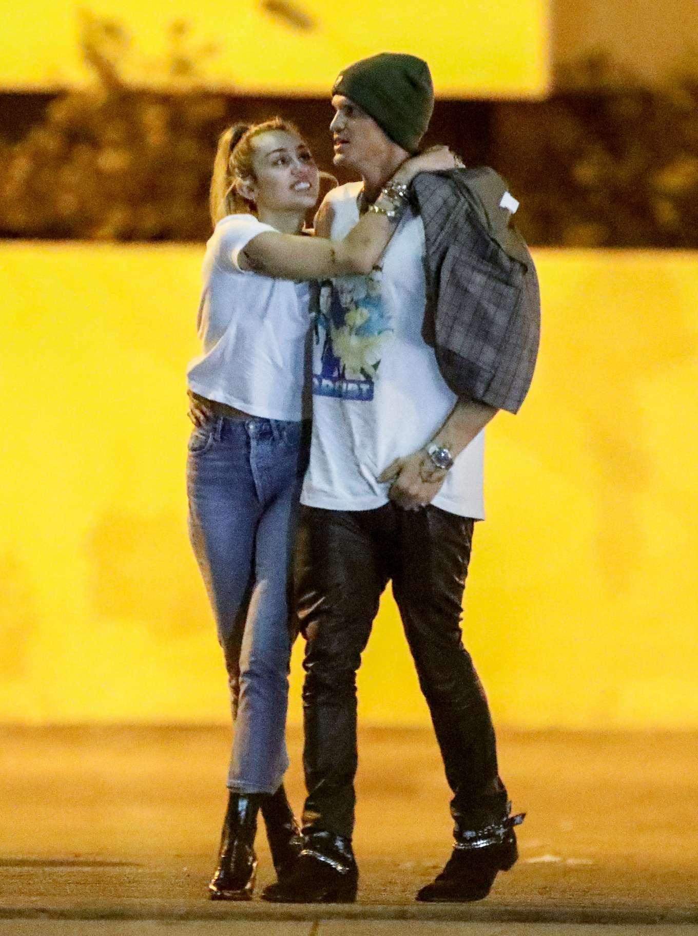 Miley Cyrus and Cody Simpson - Nightout in Studio City