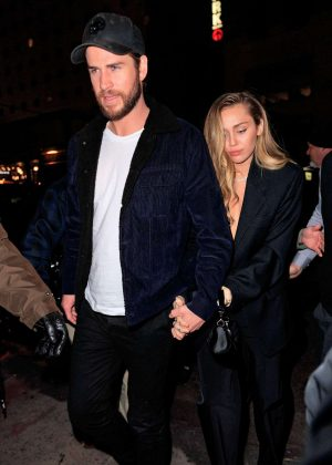 Miley Cyrus and Liam Hemsworth - Arrives at SNL After Pparty in NY