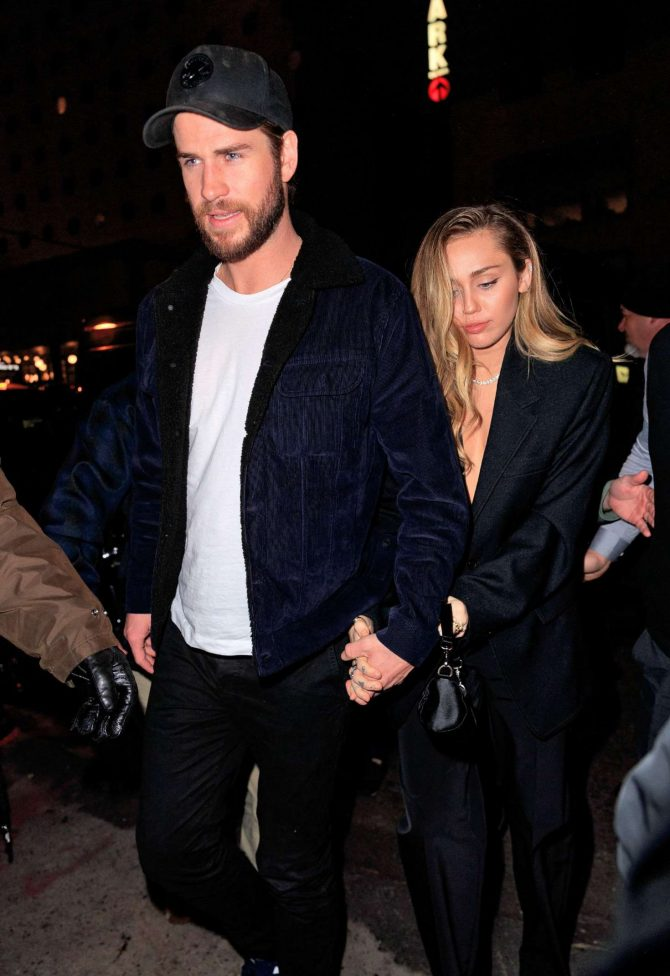 Miley Cyrus and Liam Hemsworth – Arrives at SNL After Pparty in NY