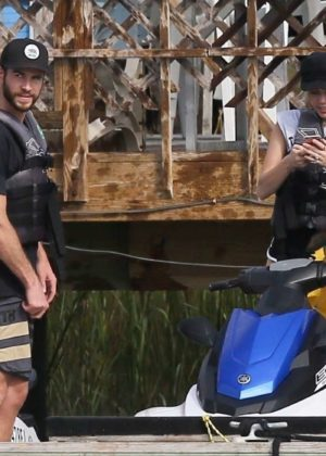 Miley Cyrus and Liam Hemsworth on Tybee Island in Georgia