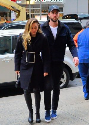 Miley Cyrus and Liam Hemsworth - Out in New York City