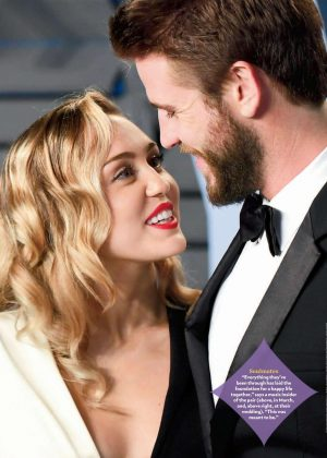 Miley Cyrus and Liam Hemsworth - People US Magazine (January 2019)