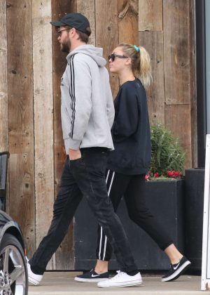 Miley Cyrus and Liam Hemsworth - Shopping in Malibu