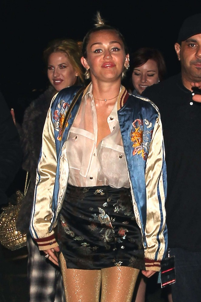 Miley Cyrus - Arrives for Lana Del Rey's Concert at the Hollywood Bowl