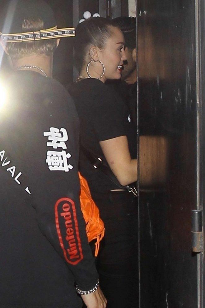 Miley Cyrus: Arriving at Noah Concert -10