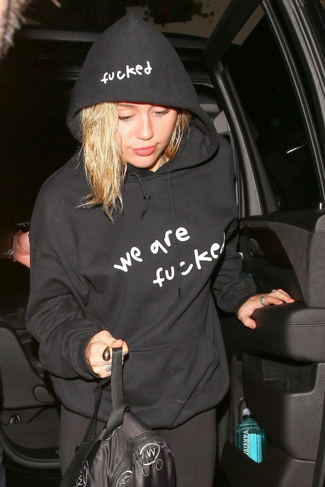 Miley Cyrus - Arriving at the Troubadour in West Hollywood