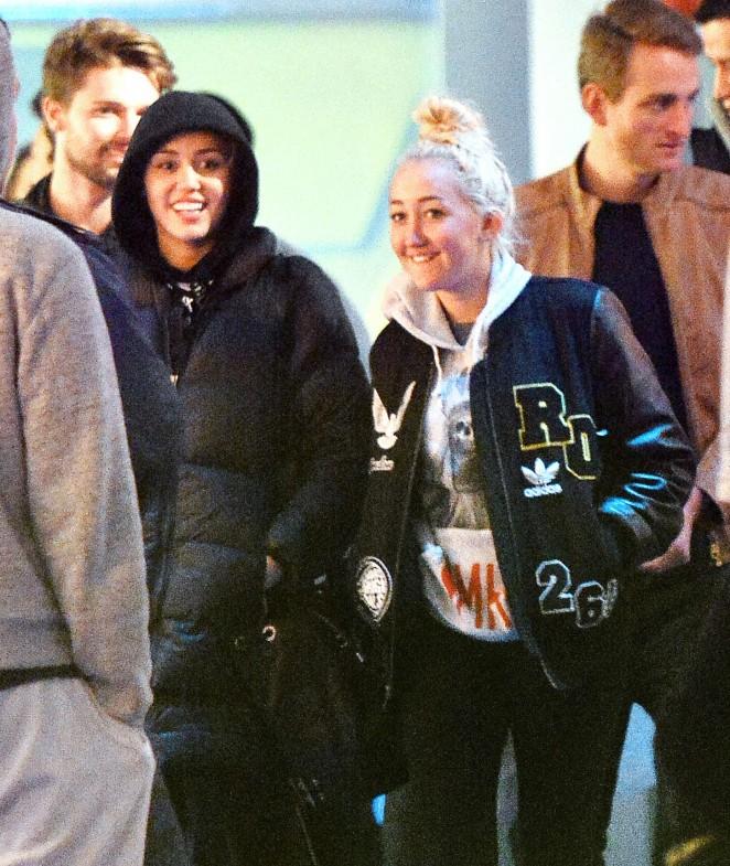 Miley Cyrus at Disneyland in Anaheim
