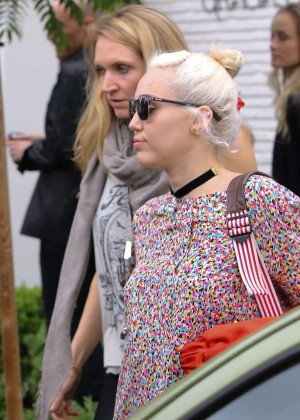 Miley Cyrus at Gracias Madre in West Hollywood