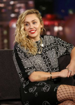 Miley Cyrus at Jimmy Kimmel Live! in Los Angeles