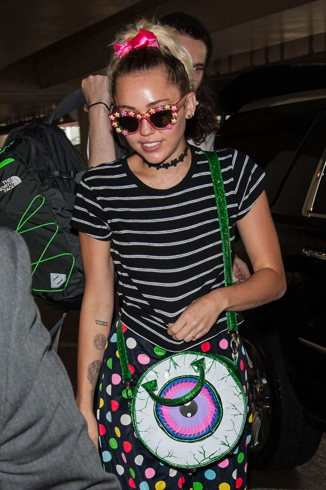 Miley Cyrus at LAX Airport in Los Angeles