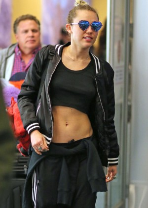 Miley Cyrus at Vancouver International Airport