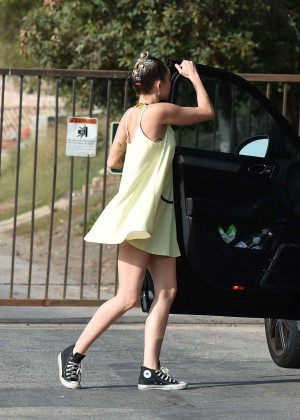 Miley Cyrus in Short Dress out in LA