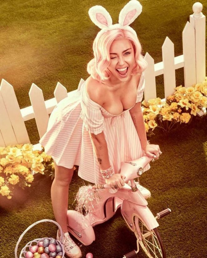 Miley Cyrus by Vijat Mohindra Easter Themed Photoshoot 2018