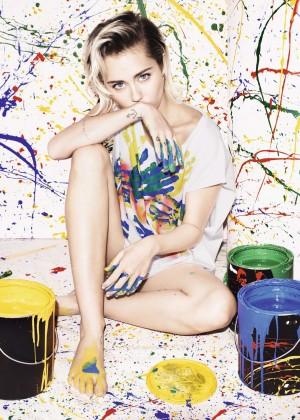 Miley Cyrus - Elle Magazine UK (October 2015) adds
