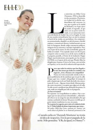Miley Cyrus - Elle Spain Magazine (November 2016)