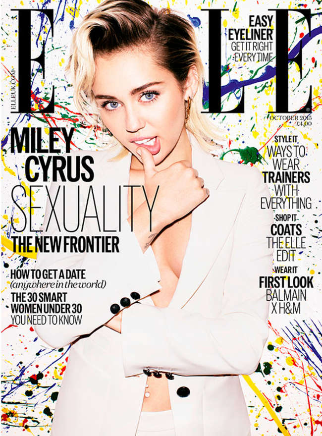 Miley Cyrus - Elle UK Cover (October 2015)