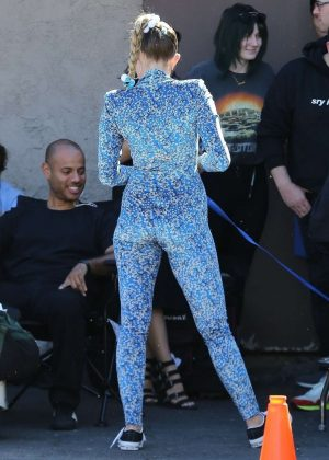 Miley Cyrus - Filming a movie candids in Los Angeles