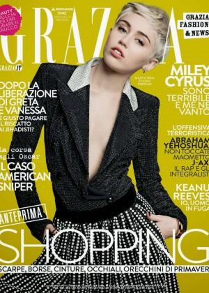 Miley Cyrus - Grazia Italy Magazine (January 2015)
