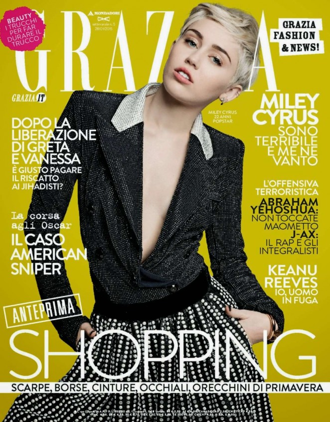 Miley Cyrus – Grazia Italy Magazine (January 2015)