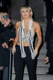 Miley Cyrus - In a silk top at the Bowery Hotel in New York
