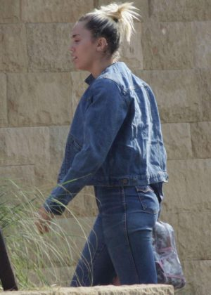 Miley Cyrus in Jeans at Soho House in Malibu