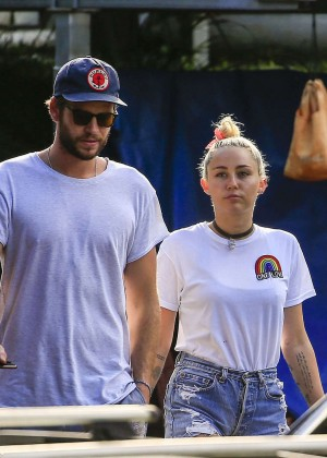 Miley Cyrus in Jeans Shorts -08