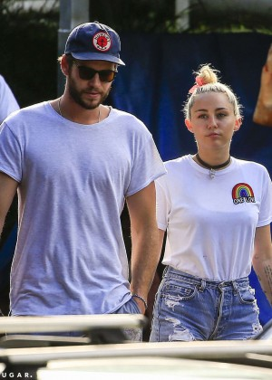 Miley Cyrus in Jeans Shorts -17