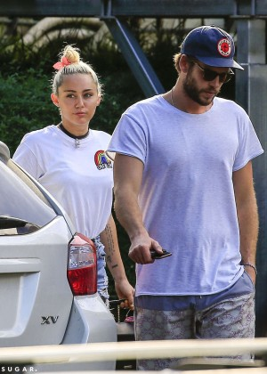 Miley Cyrus in Jeans Shorts -18