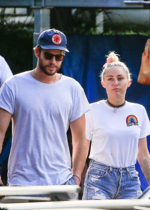 Miley Cyrus in Jeans Shorts -20