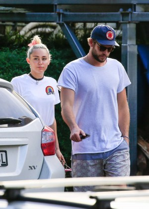 Miley Cyrus in Jeans Shorts -22